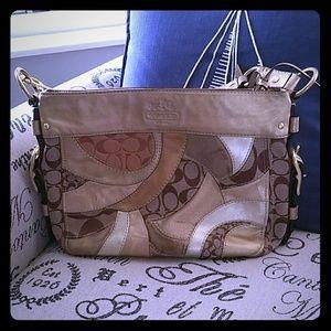 Coach Gold Patchwork Handbag